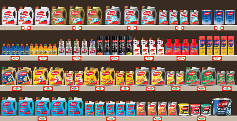 تصویر مرچندایز شده محصولات خودرویی کاسپین